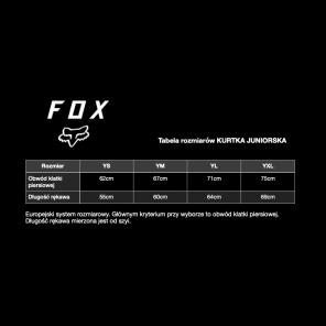Kurtka przeciwdeszczowa FOX Junior Fluid Rain clear
